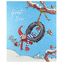 Buy Woodmansterne Little Boy Swinging In A Tyre Christmas Card Online at johnlewis.com