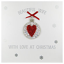 Buy Saffron Cards and Gifts Beautiful Wife With Love At Christmas Card Online at johnlewis.com