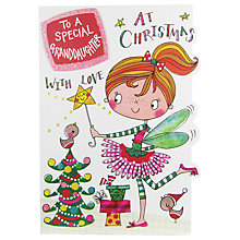 Buy Rachel Ellen Granddaughter Christmas Wonky World Card Online at johnlewis.com