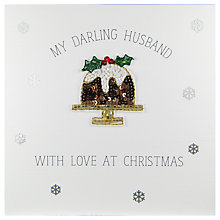 Buy Saffron Cards and Gifts My Darling Husband With Love At Christmas Card Online at johnlewis.com