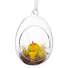 Buy John Lewis Chenille Rooster in Glass Egg Online at johnlewis.com