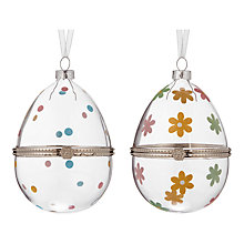 Buy John Lewis Hinged Hanging Glass Egg Online at johnlewis.com