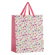Buy John Lewis Easter Floral Gift Bag, Medium Online at johnlewis.com