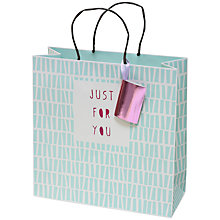 Buy Belly Button Designs Platinum Stripe Gift Bag Online at johnlewis.com
