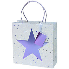 Buy Belly Button Designs Star Gift Bag, Blue Online at johnlewis.com