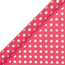 Buy John Lewis Gold Spot Gift Wrap, 3m Online at johnlewis.com