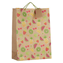 Buy John Lewis Kraft Fruits Gift Bag, Large Online at johnlewis.com