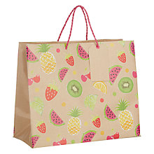 Buy John Lewis Kraft Fruits Gift Bag, Medium Landscape Online at johnlewis.com