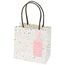 Buy Belly Button Designs Miniature Foil Gift Bag, Pink Online at johnlewis.com
