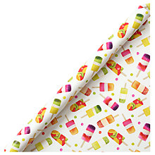 Buy John Lewis Lollipops Gift Wrap, 3m Online at johnlewis.com