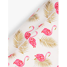 Buy John Lewis Flamingo Gift Wrap, 3m, Pink/Gold Online at johnlewis.com