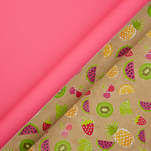 Buy John Lewis Neon Pink & Fruits Roll Wrap, 2m, Pack of 2 Online at johnlewis.com