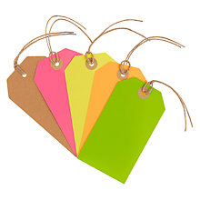 Buy John Lewis Neon Luggage Tags, Pack of 5 Online at johnlewis.com
