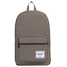 Buy Herschel Supply Co. Pop Quiz Backpack, Charcoal Online at johnlewis.com