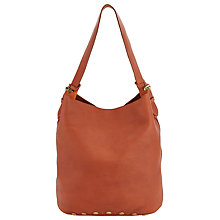 Buy AND/OR Maya Leather Bucket Bag, Burnt Orange Online at johnlewis.com