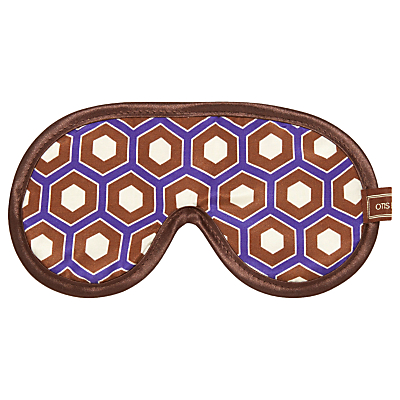 Otis Batterbee Cravat Print Cotton Silk Eye Mask, Burgundy