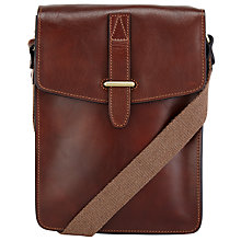 Buy John Lewis Made in Italy Leather Reporter Bag, Brown Online at johnlewis.com