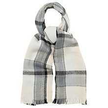 Buy Oasis Check Scarf, Black/White Online at johnlewis.com