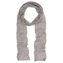 Buy Mint Velvet Metallic Skinny Scarf, Gold Online at johnlewis.com
