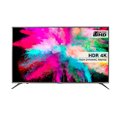 "Hisense 50M5500 LED HDR 4K Ultra HD Smart TV, 50"" With Freeview HD & Anyview Cast, Silver"
