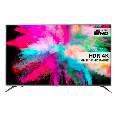 "Hisense 55M5500 LED HDR 4K Ultra HD Smart TV, 55"" With Freeview HD & Anyview Cast, Silver"