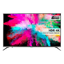 "Buy Hisense 55M5500 LED HDR 4K Ultra HD Smart TV, 55"" With Freeview HD & Anyview Cast, Silver Online at johnlewis.com"