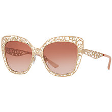 Buy Dolce & Gabbana DG2164 Cat's Eye Sunglasses, Multi/Brown Gradient Online at johnlewis.com