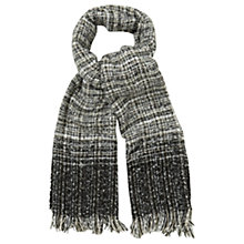 Buy Oasis Ombre Boucle Scarf, Black/White Online at johnlewis.com