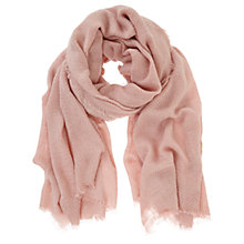 Buy Mint Velvet Plain Textured Scarf, Pale Pink Online at johnlewis.com