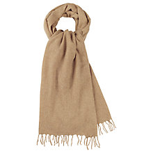 Buy hush Lambswool Scarf, Camel Online at johnlewis.com