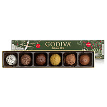Buy Godiva Assorted Christmas Chocolates, 6 Piece, 85g Online at johnlewis.com