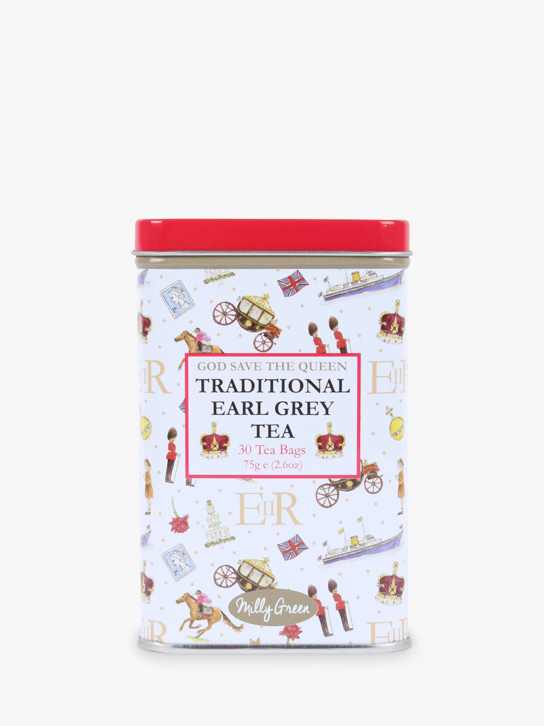 Milly Green Milly Green Celebrating Britain 'God Save The Queen' Earl Grey Tea & Caddy, 75g