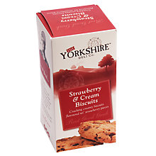 Buy The Yorkshire Deli Co. Strawberry & Cream Biscuits, 150g Online at johnlewis.com