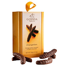 Buy Godiva Chocolate Dipped Orangettes, 105g Online at johnlewis.com