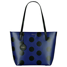 Buy Radley Rochester Large Zip-Top Leather Tote Bag, Indigo Online at johnlewis.com