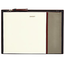 Buy DKNY Greenwich Smooth Calf Leather Small Pouch Purse, Multi Online at johnlewis.com