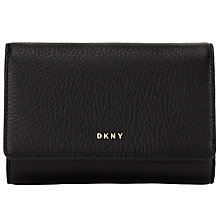 Buy DKNY Chelsea Vintage Leather Purse, Black Online at johnlewis.com