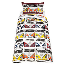 Buy VW Camper Van Duvet Cover and Pillowcase Set, Single Online at johnlewis.com