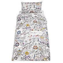 Buy Hashtag Doodle Dream Duvet Cover and Pillowcase Set, Single Online at johnlewis.com