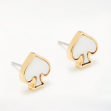 Buy kate spade new york Spade Stud Earrings, Cream/Gold Online at johnlewis.com