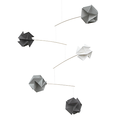 Image of Livingly Molecule 5 Mini Mobile Sculpture, Grey