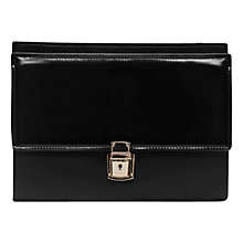 Buy French Connection Clean Carina Clutch, Black Online at johnlewis.com