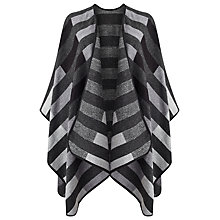 Buy Jacques Vert Stripe Wrap, Dark Grey Online at johnlewis.com