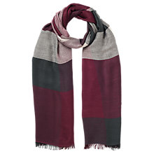 Buy Jacques Vert Multi Check Scarf, Dark Red Online at johnlewis.com