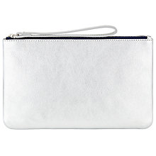 Buy John Lewis Contrast Leather Zip Pouch Online at johnlewis.com