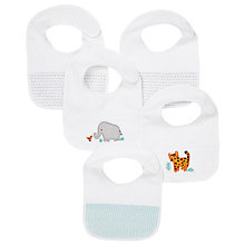 Buy John Lewis Baby Zoo Animals Towelling Bibs, Pack of 5 Online at johnlewis.com