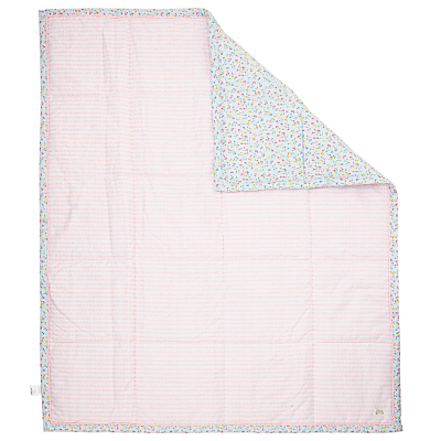 John Lewis Baby Ditsy Scallop Quilt, Pink
