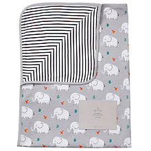 Buy John Lewis Baby Elephant Swaddle Blanket, Grey Online at johnlewis.com