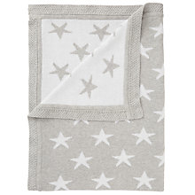 Buy John Lewis Baby Star Knit Blanket, 75 x 100cm, Grey Online at johnlewis.com