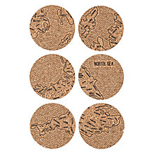 Buy JollySmith British Isle Coaster Set, Set of 6 Online at johnlewis.com